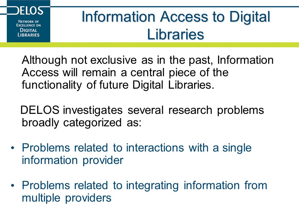 Information Access to Digital Libraries