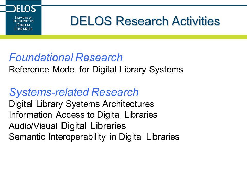 DELOS Research Activities