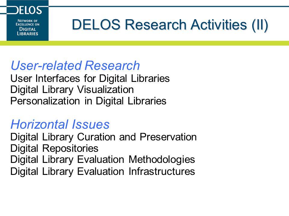 DELOS Research Activities (II)