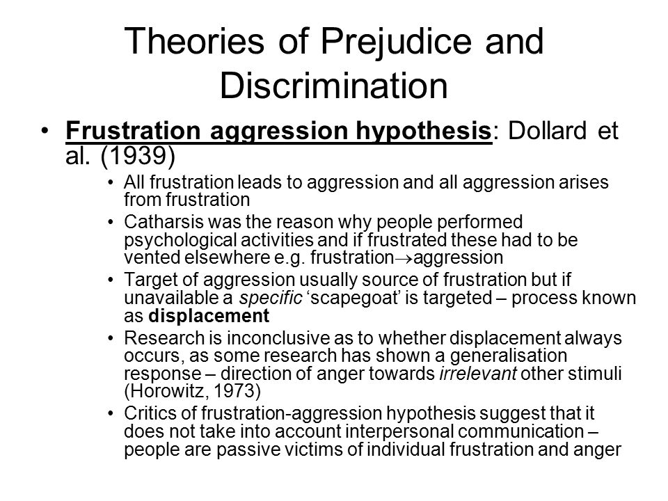 theories of discrimination Social inclusion: its significance for development theory inclusion of all, equally and without discrimination - australia eg, response to floods in january 2011.