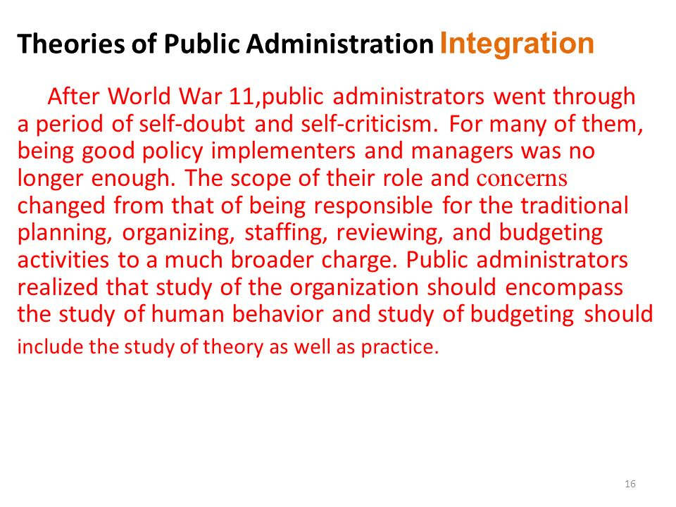 theories and development of public administration 2013-2-12 public administration theory, research, and teaching:  public administration  and evolution of public adminis- tration.