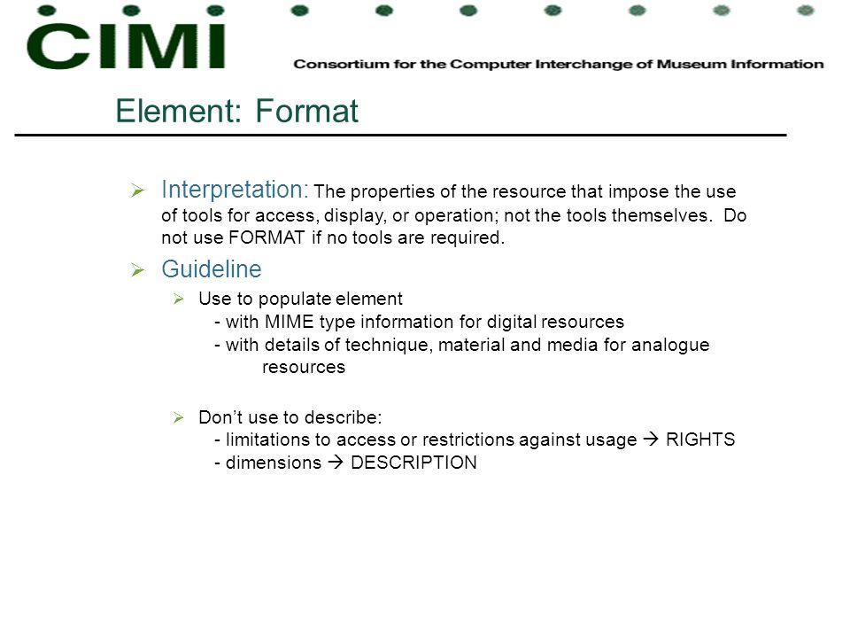 Element: Format