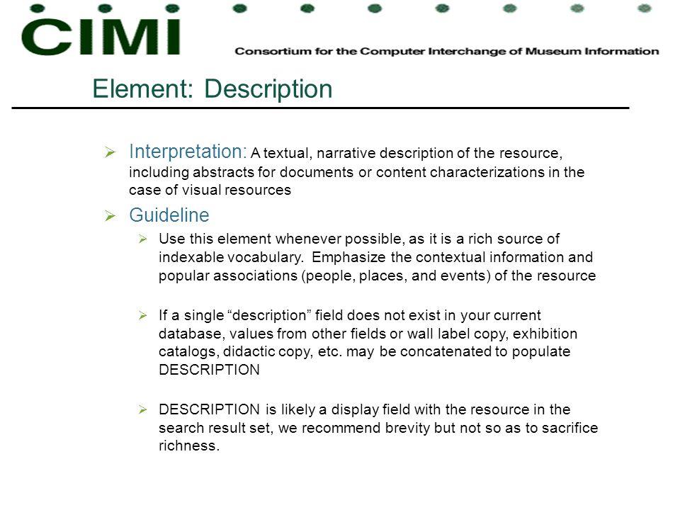 Element: Description
