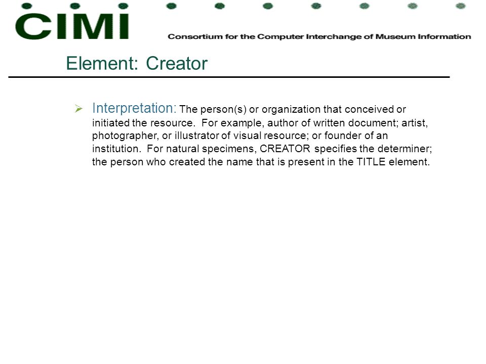 Element: Creator