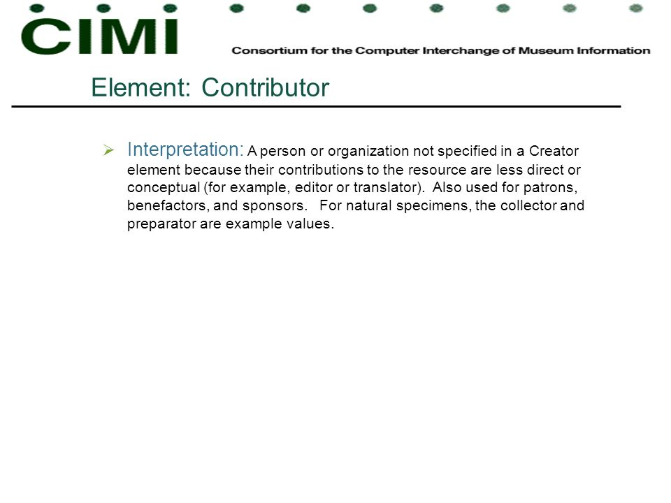Element: Contributor
