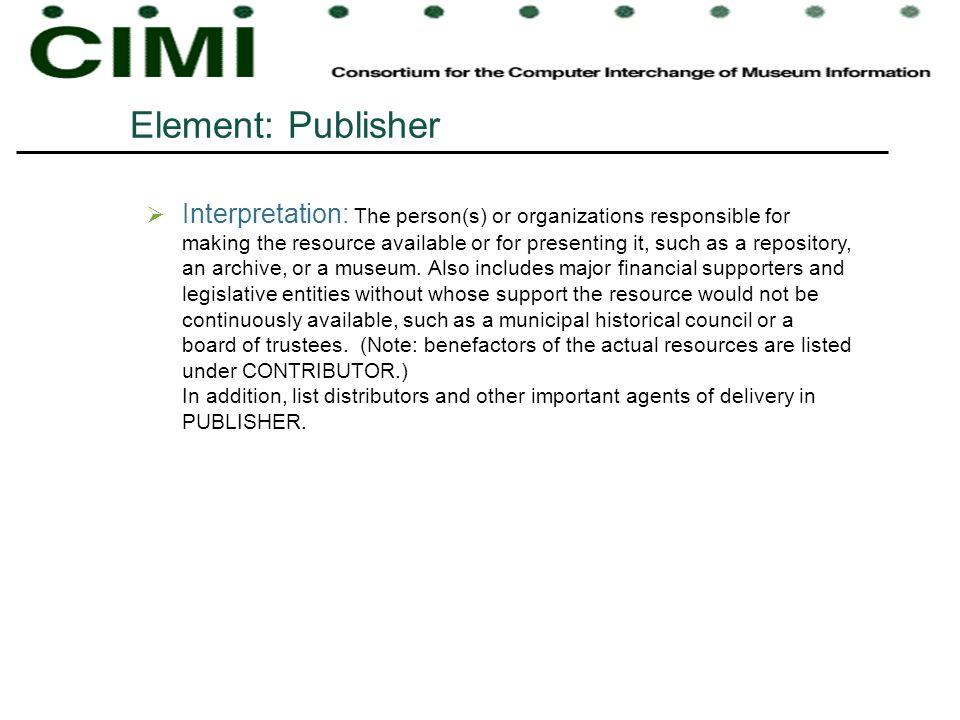 Element: Publisher