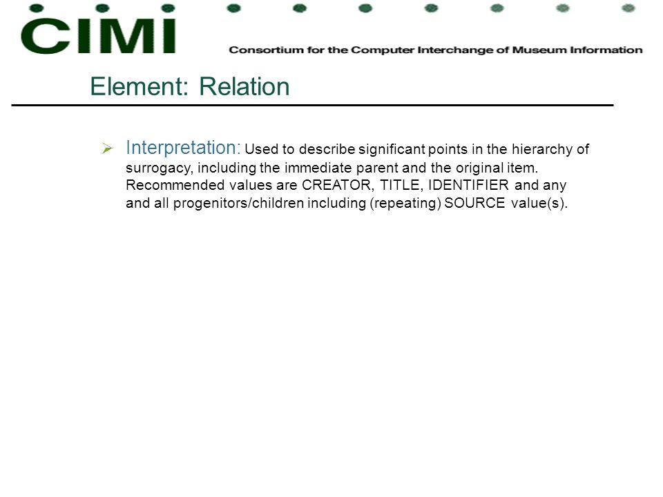 Element: Relation