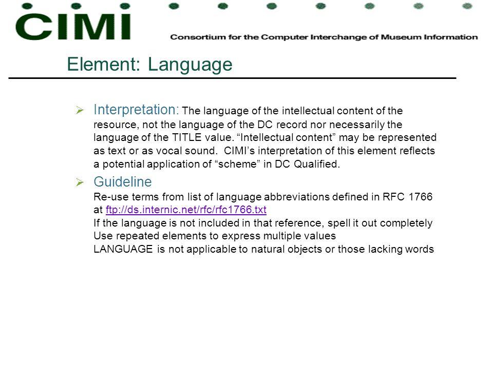 Element: Language