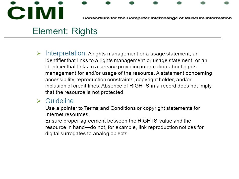 Element: Rights