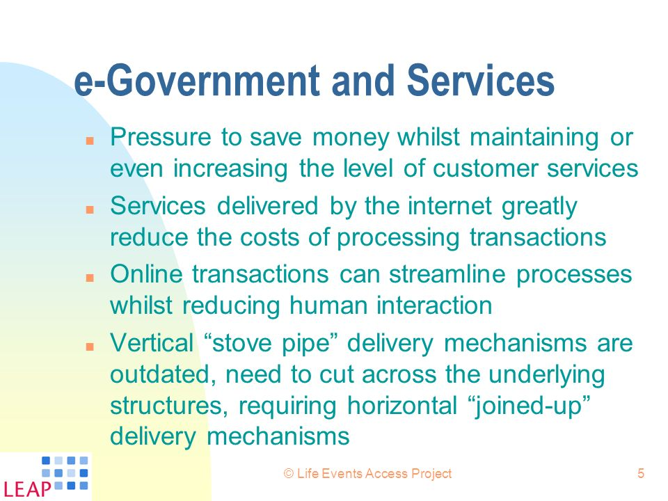 e-Government and Services