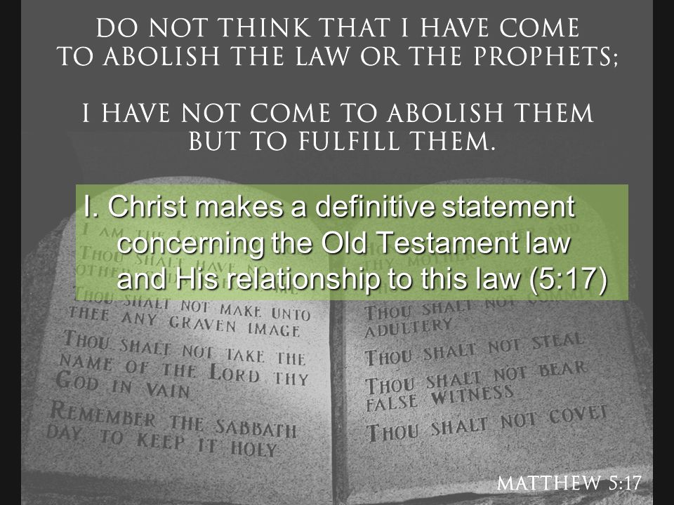 christian relationship to the old testament law