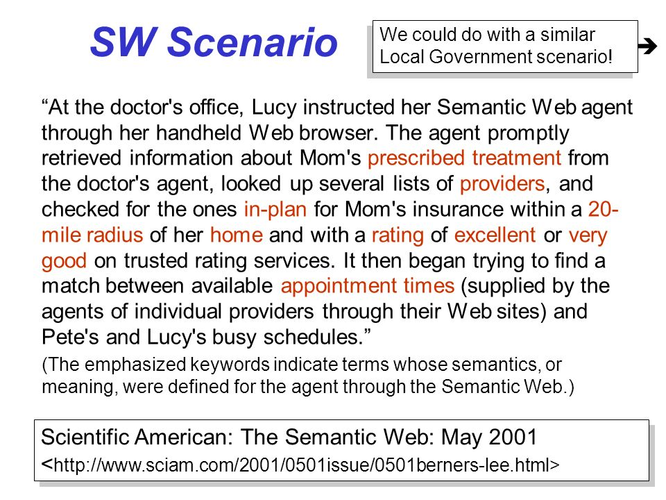 SW ScenarioWe could do with a similar Local Government scenario! 