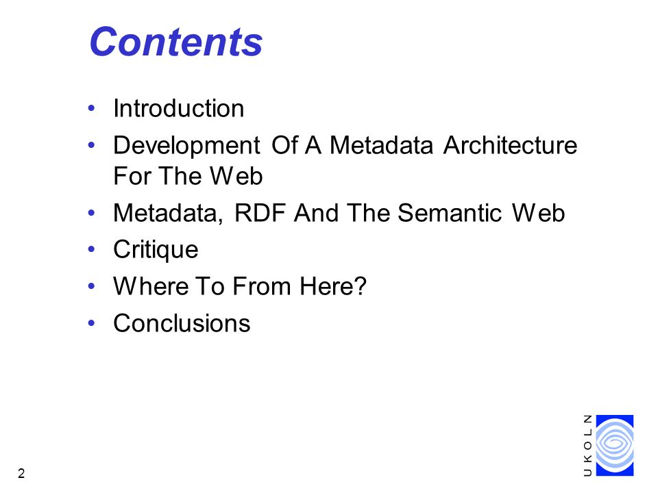 Contents Introduction