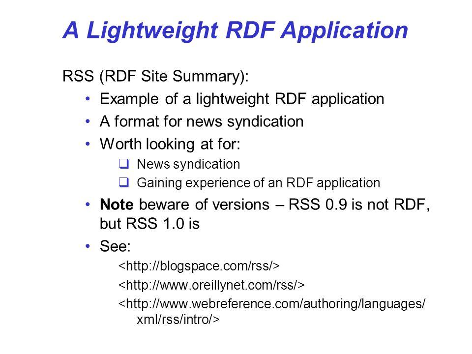 A Lightweight RDF Application