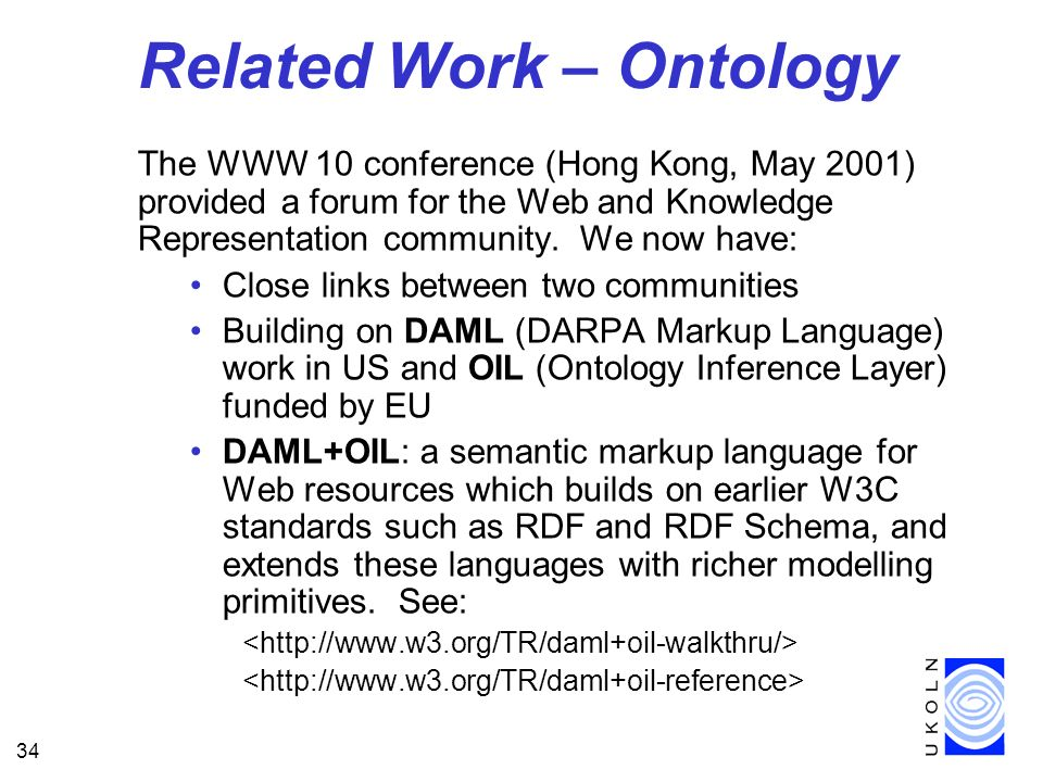 Related Work – Ontology