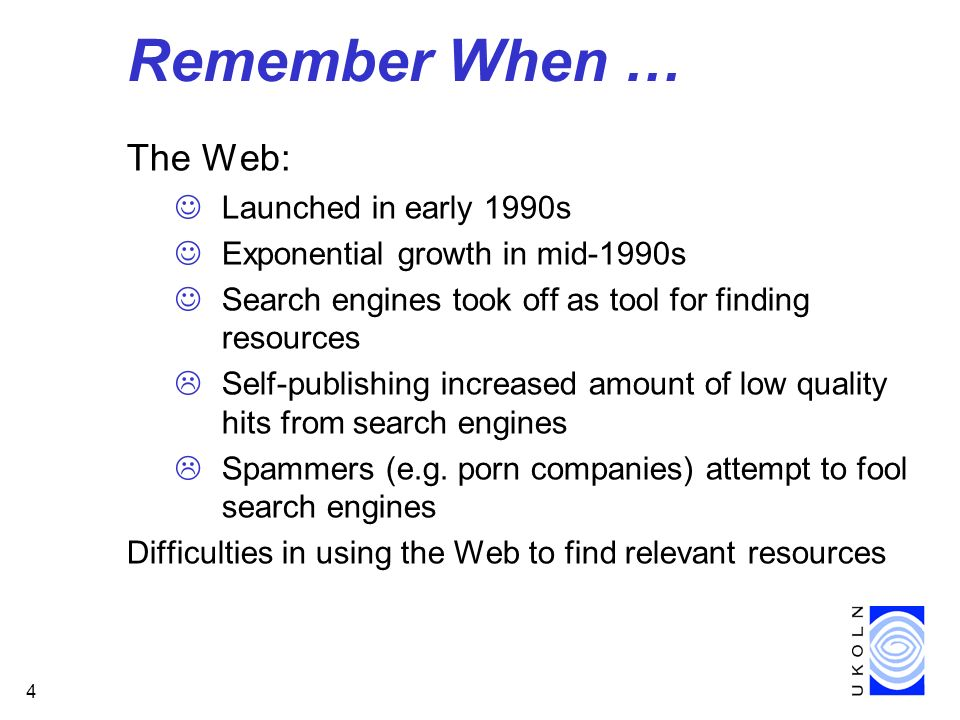 Remember When … The Web: Launched in early 1990s