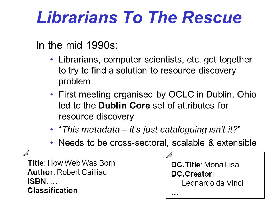 Librarians To The Rescue