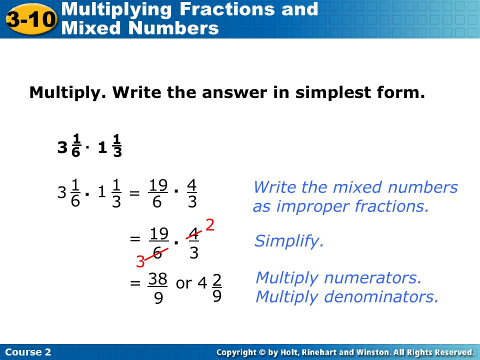 simplest form answers  Write Answers In Simplest Form