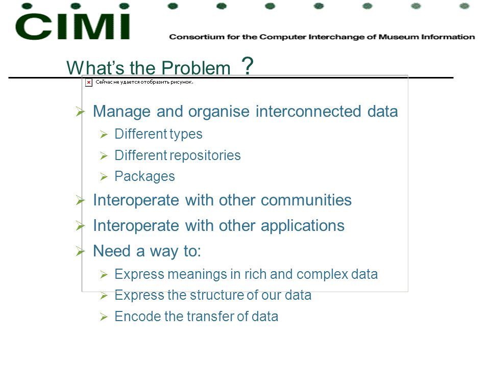 What's the Problem Manage and organise interconnected data