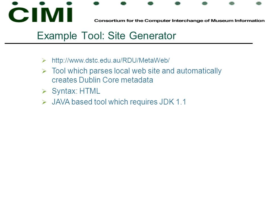 Example Tool: Site Generator