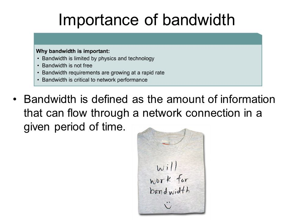 understanding bandwidth and its importance in the internet and networking High performance browser networking by ilya armed with a better understanding of how bandwidth and latency work to travel from its point of origin to the.