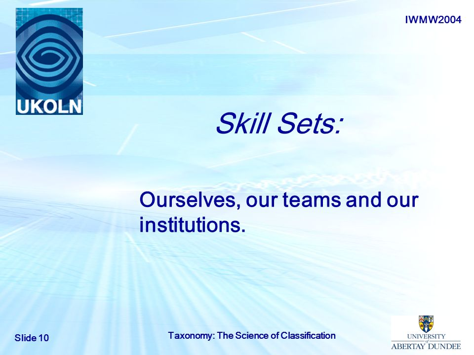 Ourselves, our teams and our institutions.