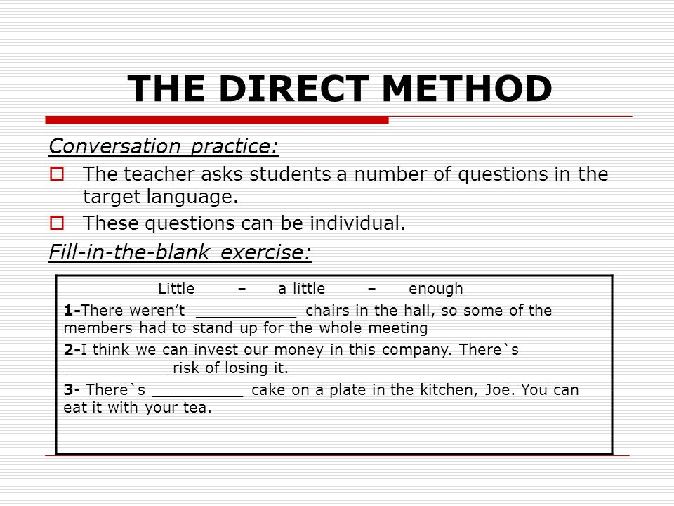 Direct Method in Foreign Language Teaching