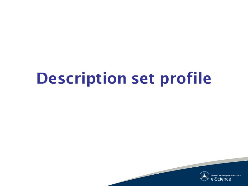 Description set profile