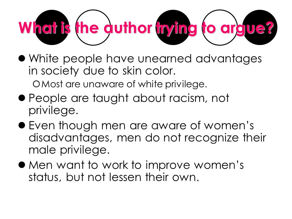 how to explain white privilege to a white person