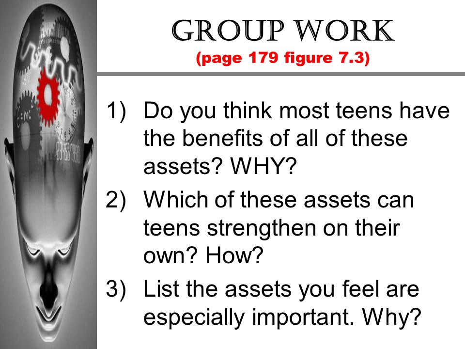 Group work (page 179 figure 7.3)