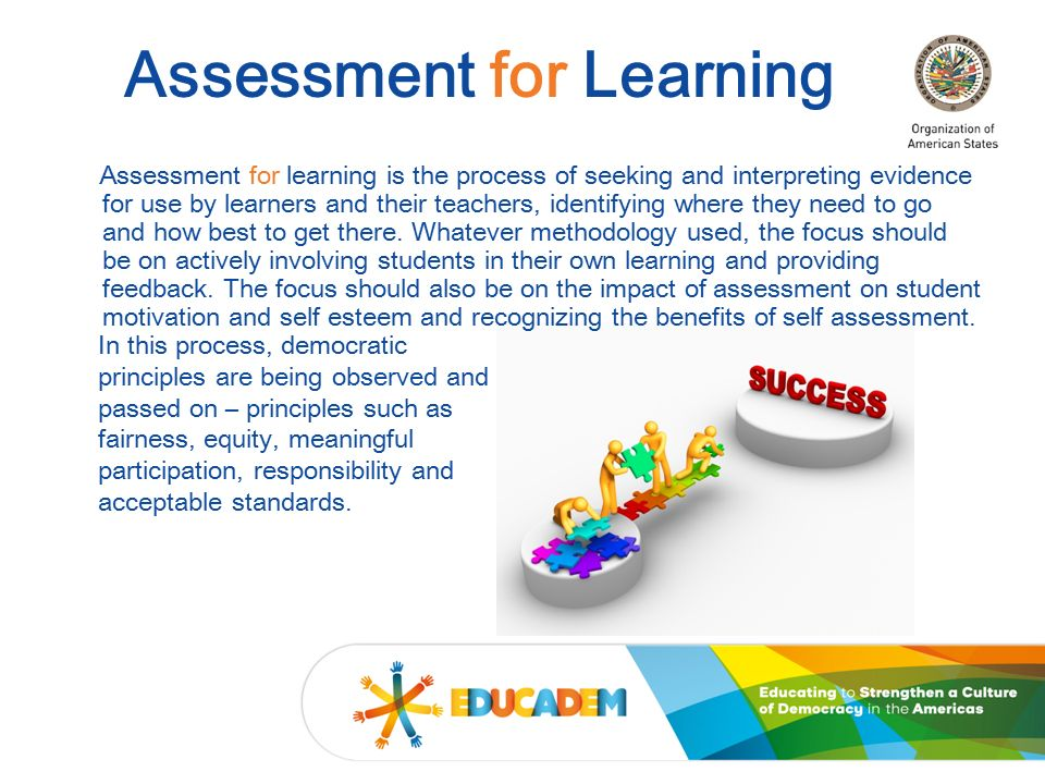 impact of assessment for learning Assessment for learning is particularly useful for supporting low-attaining pupils, but many schools find it difficult to implement chris harrison looks at what's going wrong.