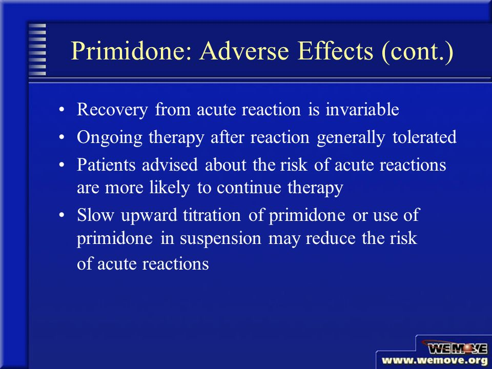 Primidone For Tremors Side Effects