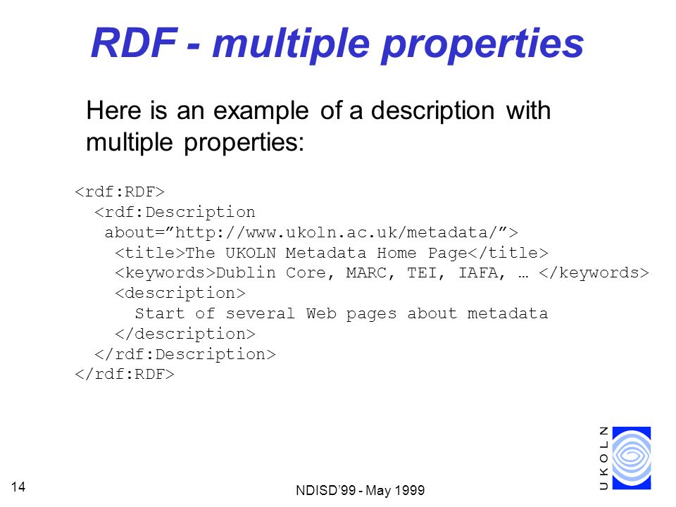RDF - multiple properties