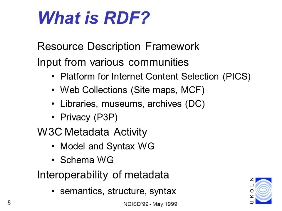 What is RDF Resource Description Framework