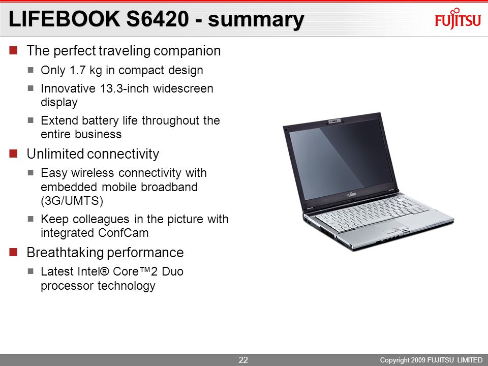 LIFEBOOK S6420 - summary The perfect traveling companion