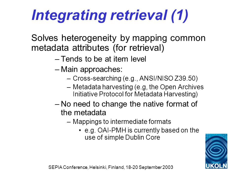 Integrating retrieval (1)