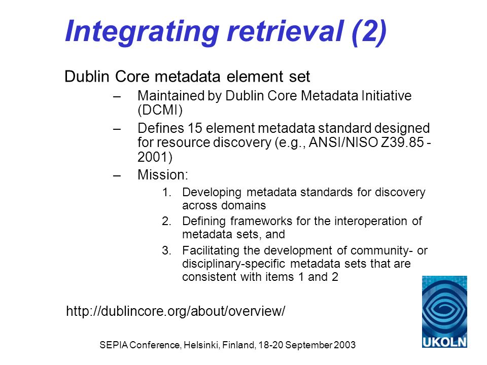Integrating retrieval (2)