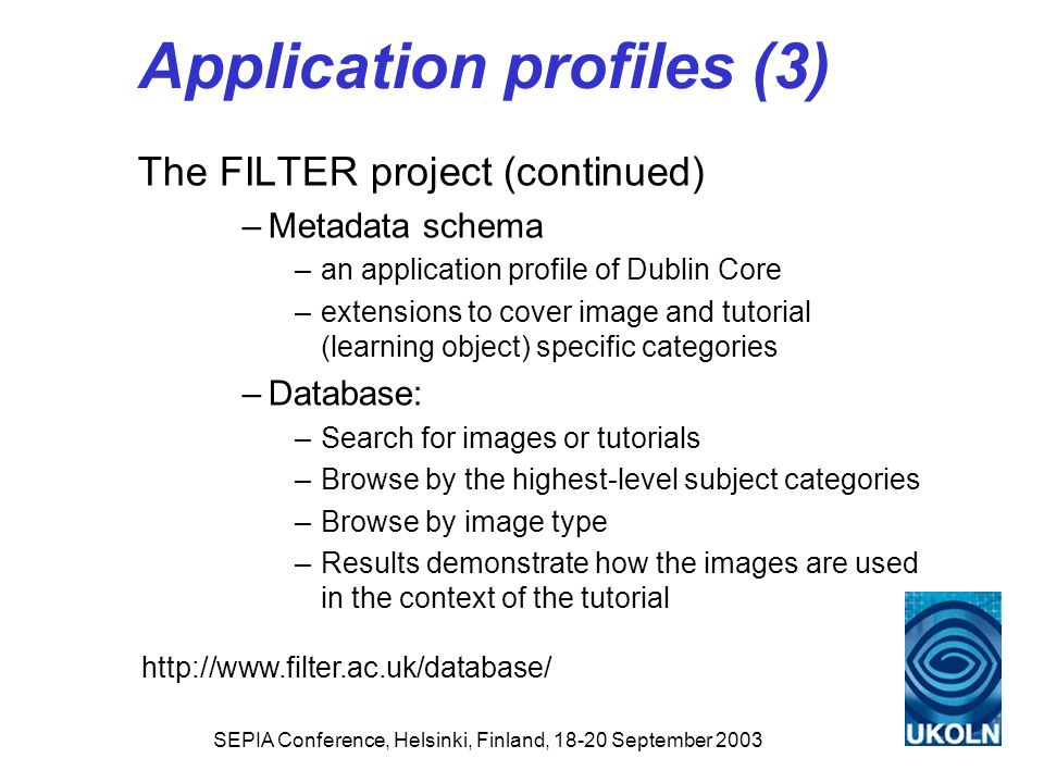 Application profiles (3)
