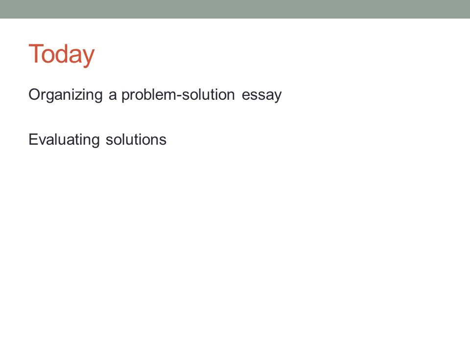 example of a problem solution essay