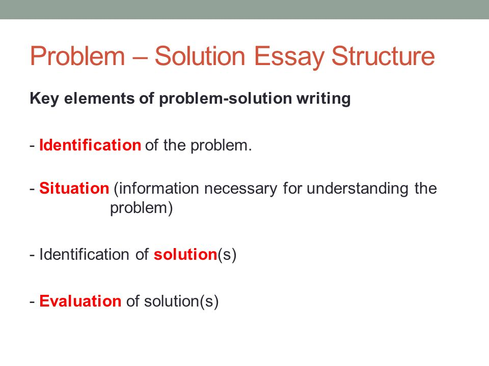 Problem essay writing