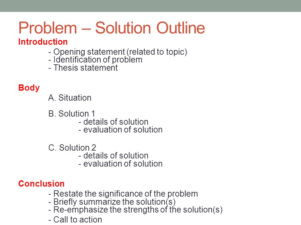 Good topics for a problem solution essay