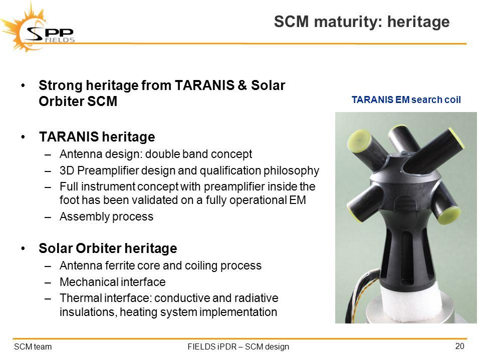 Scm Solar solar probe plus fields instrument pdr search coil magnetometer scm