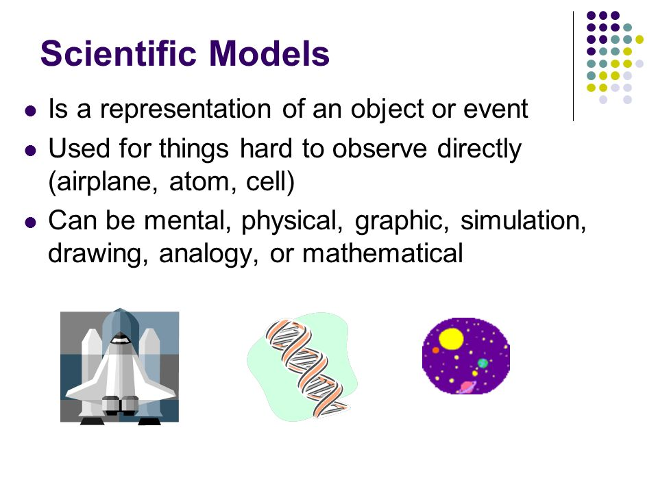 Scientific Models Is a representation of an object or event