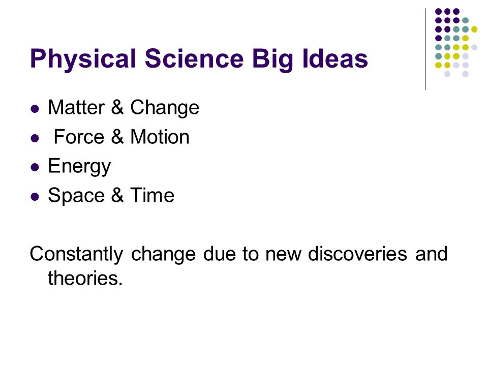 Physical Science Big Ideas