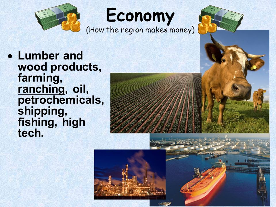 Economy (How the region makes money)