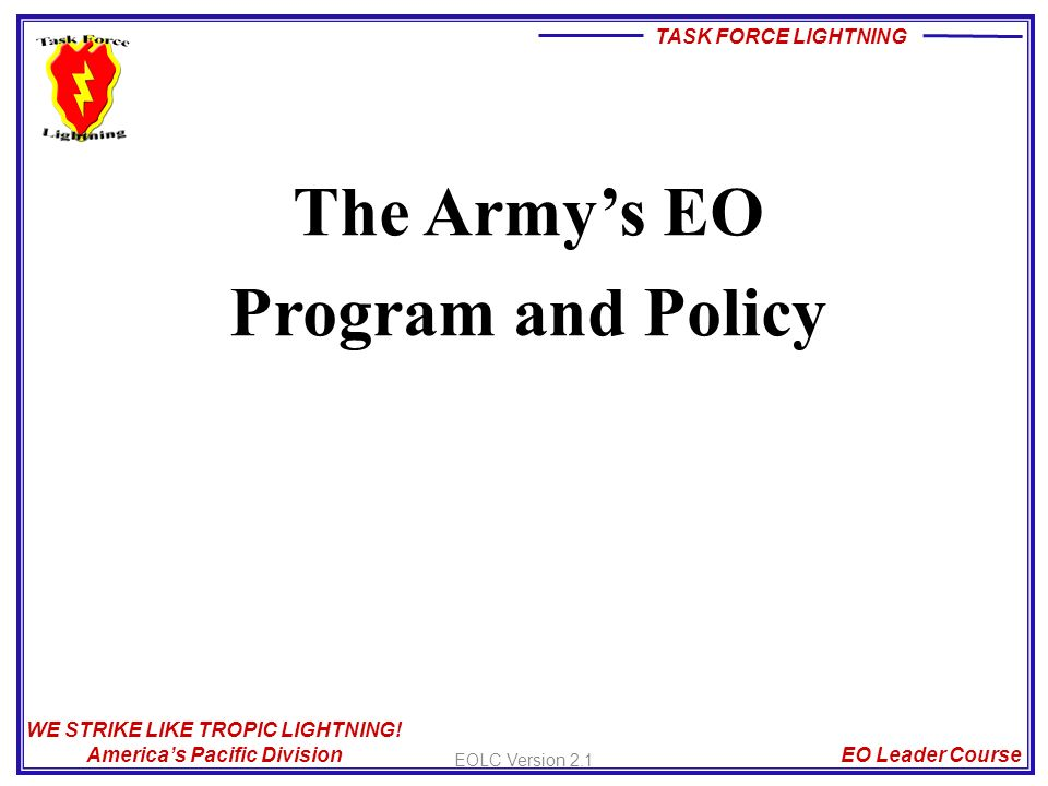 army eo program The defense department has updated its military equal opportunity program to protect dod updates equal opportunity policy to include sexual dog an army combat.