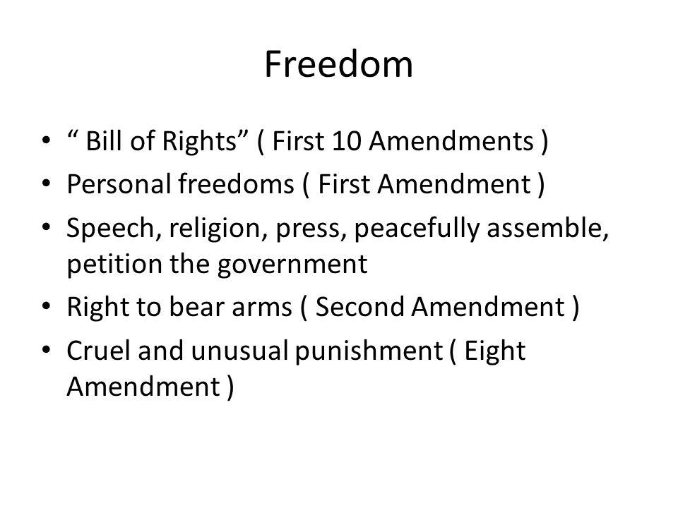 Freedom Bill of Rights ( First 10 Amendments )