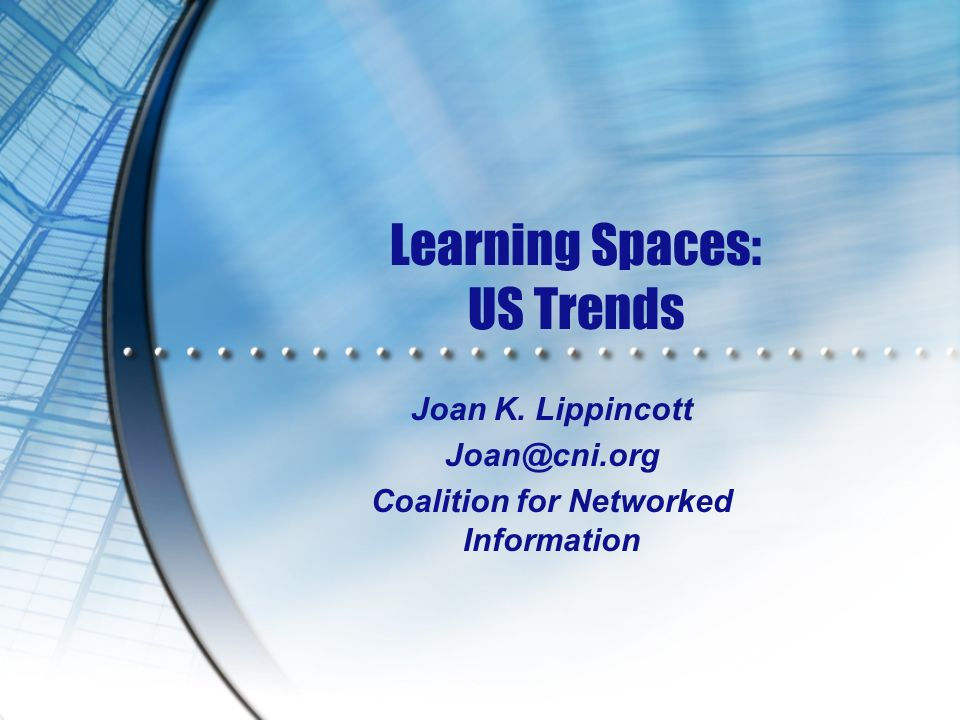 Learning Spaces: US Trends