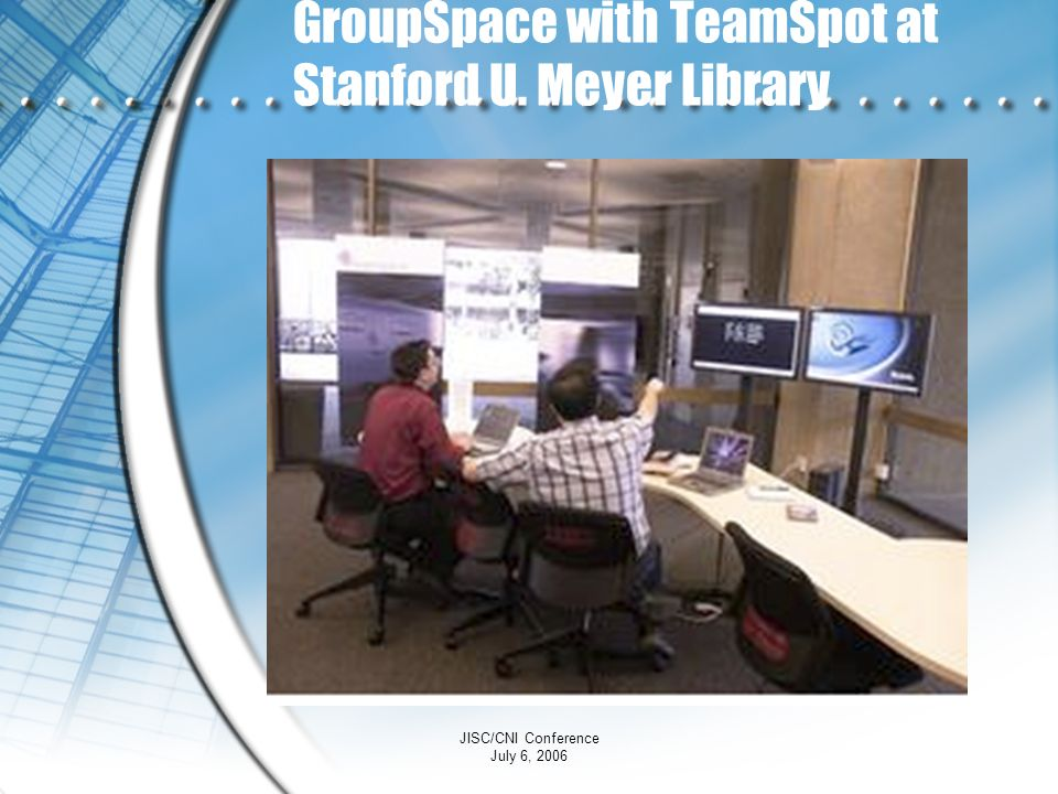 GroupSpace with TeamSpot at Stanford U. Meyer Library