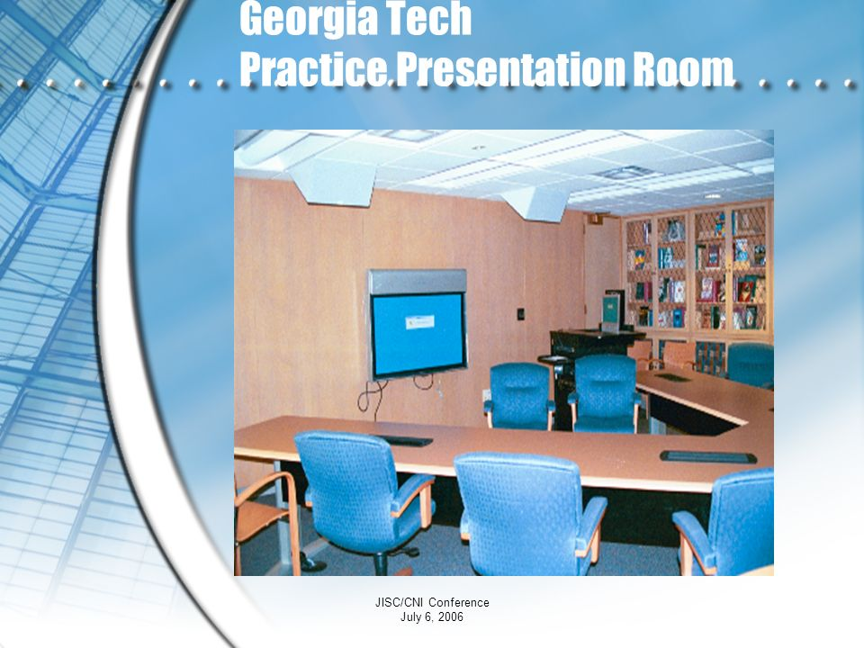 Georgia Tech Practice Presentation Room